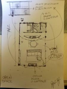 Open space  - progetto architetto Giulia Gorghini
