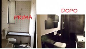 Altra visuale del bagno ristrutturato dall'arch. Giulia Gorghini